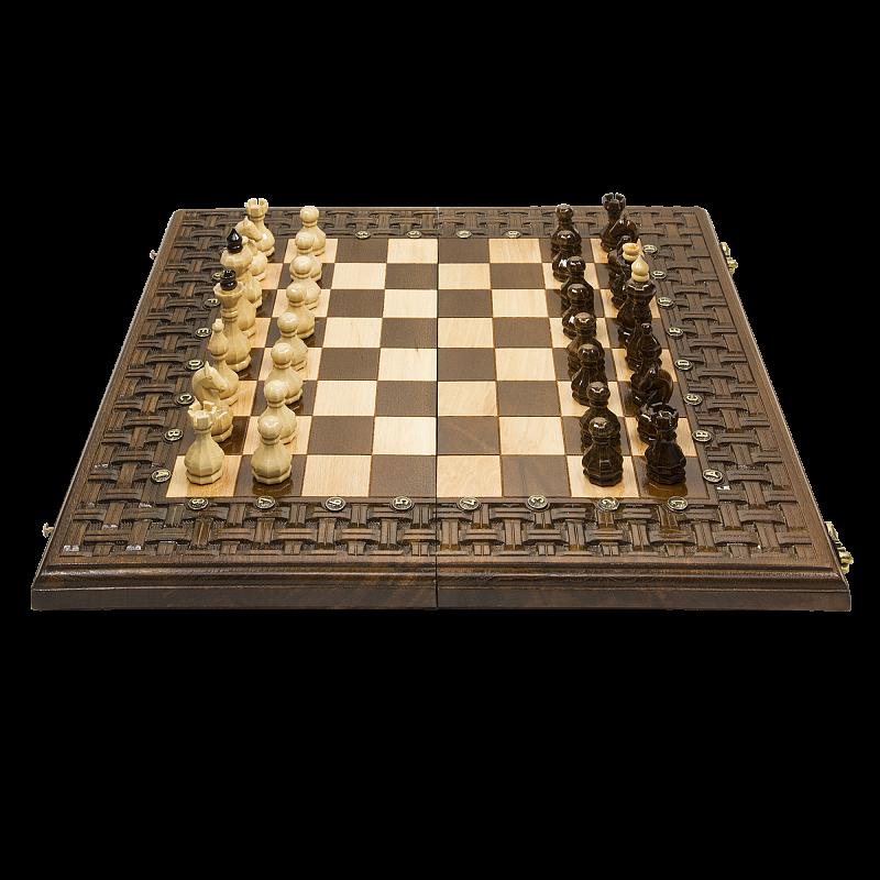 Набор настольных игр Haleyan Шахматы + нарды резныеАрмянский Орнамент 50 набор настольных игр haleyan стол ломберный шахматы