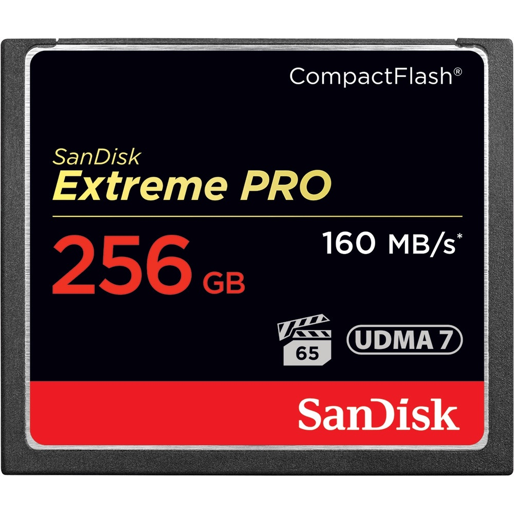 Карта памяти SanDisk Compact Flash Extreme Pro 256GB (160 MB/s)