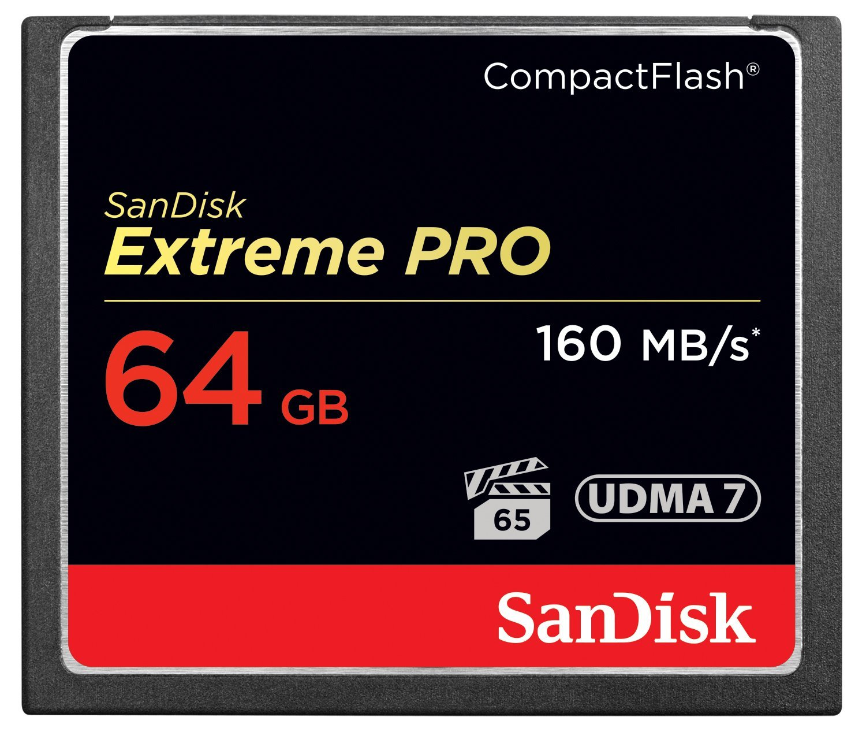 Карта памяти SanDisk Compact Flash  Extreme Pro  64GB  (160 MB/s)