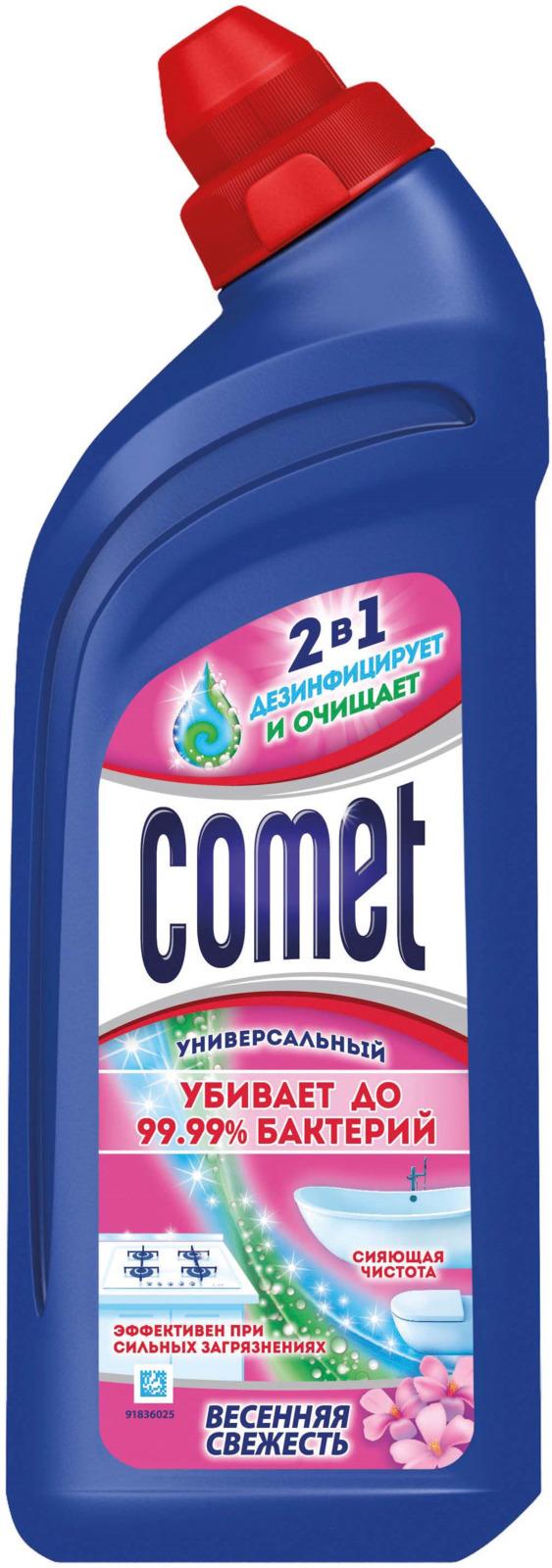 Универсальный чистящий гель Comet Двойной эффект, весенняя свежесть, 500 мл comet чистящий гель лимон 500мл