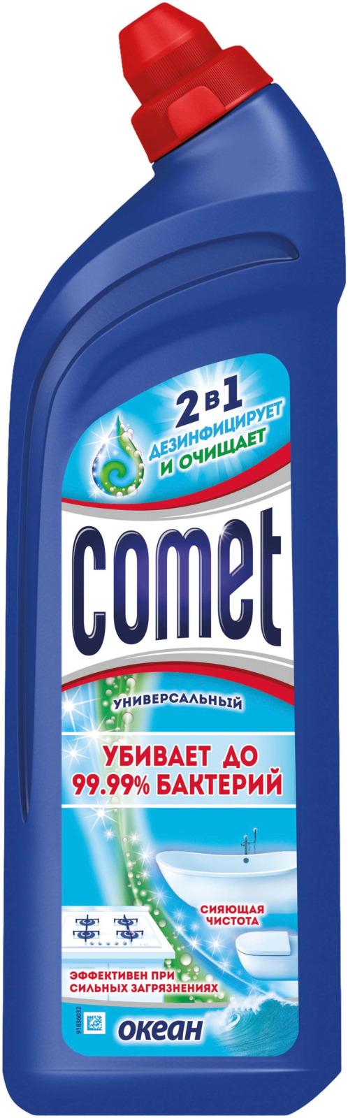 Универсальный чистящий гель Comet Двойной эффект, океанский бриз, 1 л comet чистящий гель лимон 500мл