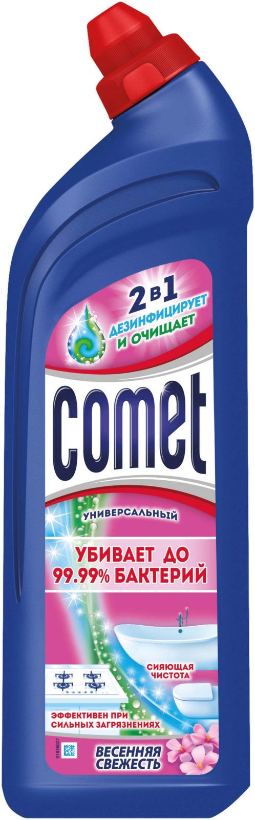 Универсальный чистящий гель Comet Двойной эффект, весенняя свежесть, 1 л comet чистящий гель лимон 500мл