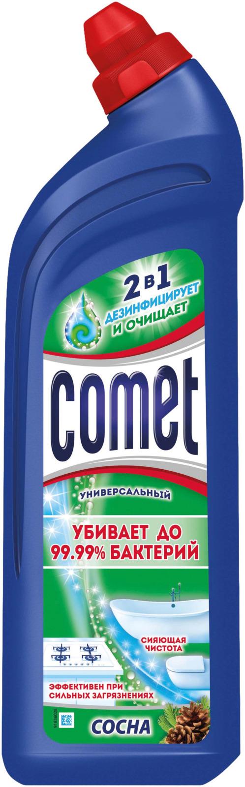 Универсальный чистящий гель Comet Двойной эффект, с ароматом сосны, 1 л comet чистящий гель лимон 500мл