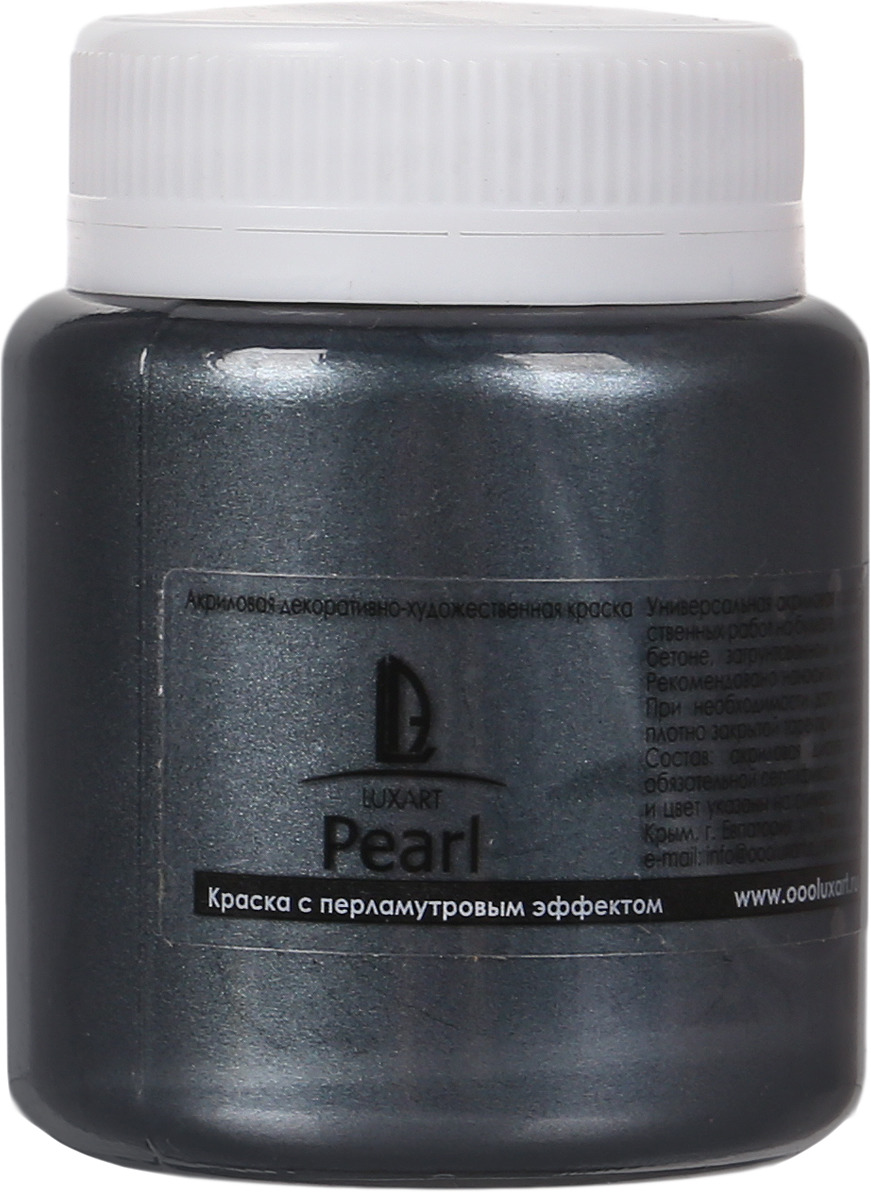 Luxart Краска акриловая LuxPearl цвет графит перламутровый 80 мл цена