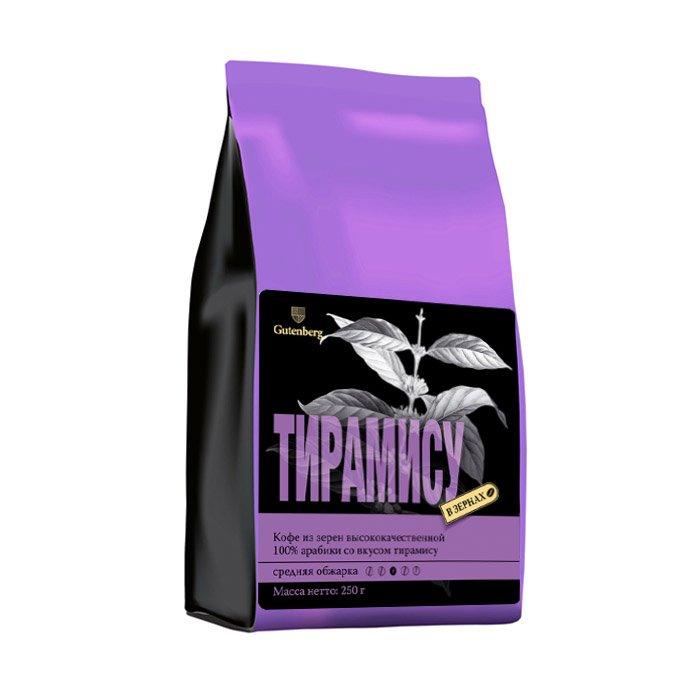 Кофе в зернах Тирамису уп. 250 г кофе в зернах ароматизированный клубничная панна котта уп 250 г