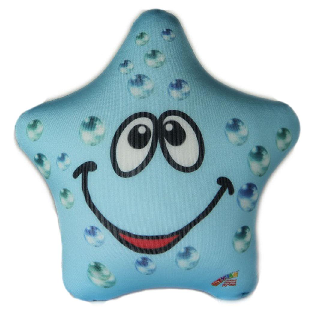 Подушка-игрушка Штучки, к которым тянутся ручки Звезда, голубой