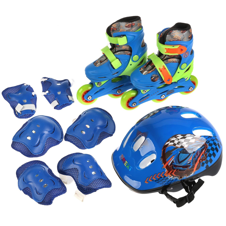 Комплект: Роликовые коньки+защита Next