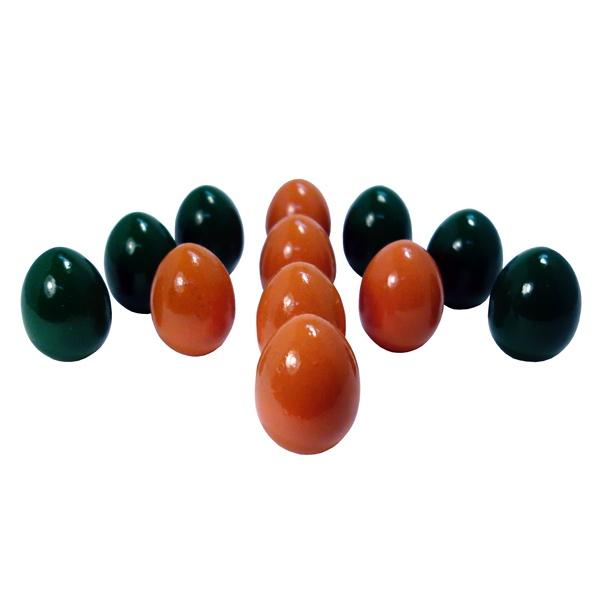 Развивающая игрушка RNToys Счетный материал Яйца 12шт. (оранжевые+зеленые)