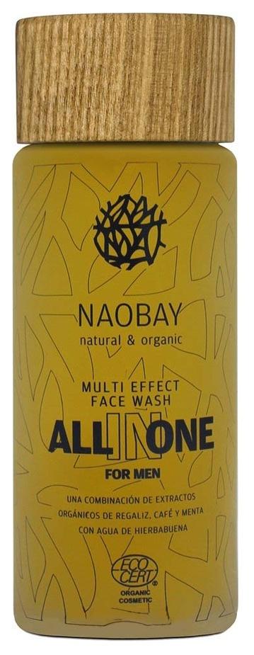 Мужской очищающий гель для лица ECOCERT WASH for Face Naobay NAOBAY