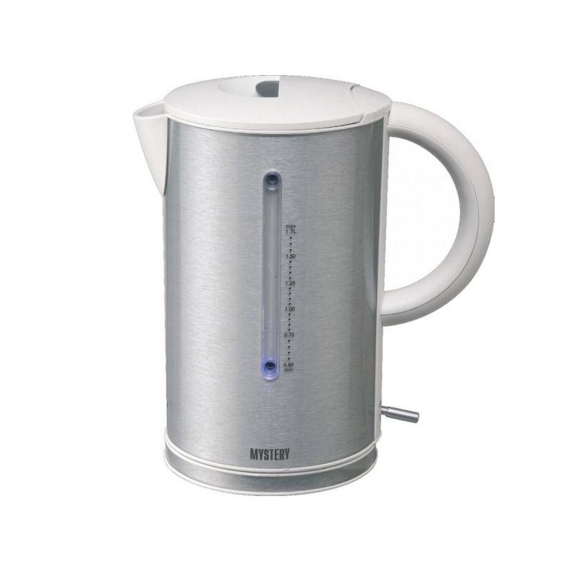 Электрический чайник Mystery MEK-1614 GREY чайник mystery mek 1627 2000 вт 1 8 л пластик стекло чёрный
