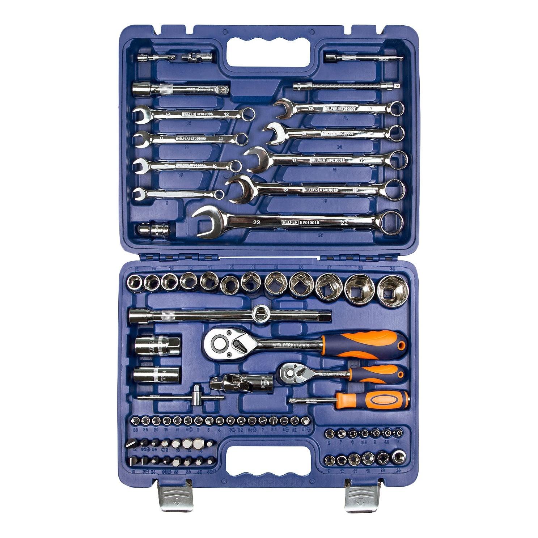 Набор инструментов HELFER HF000010 (82 предмета) helfer набор helfer comfort 56 предметов 1 2 1 4 [hf000013]