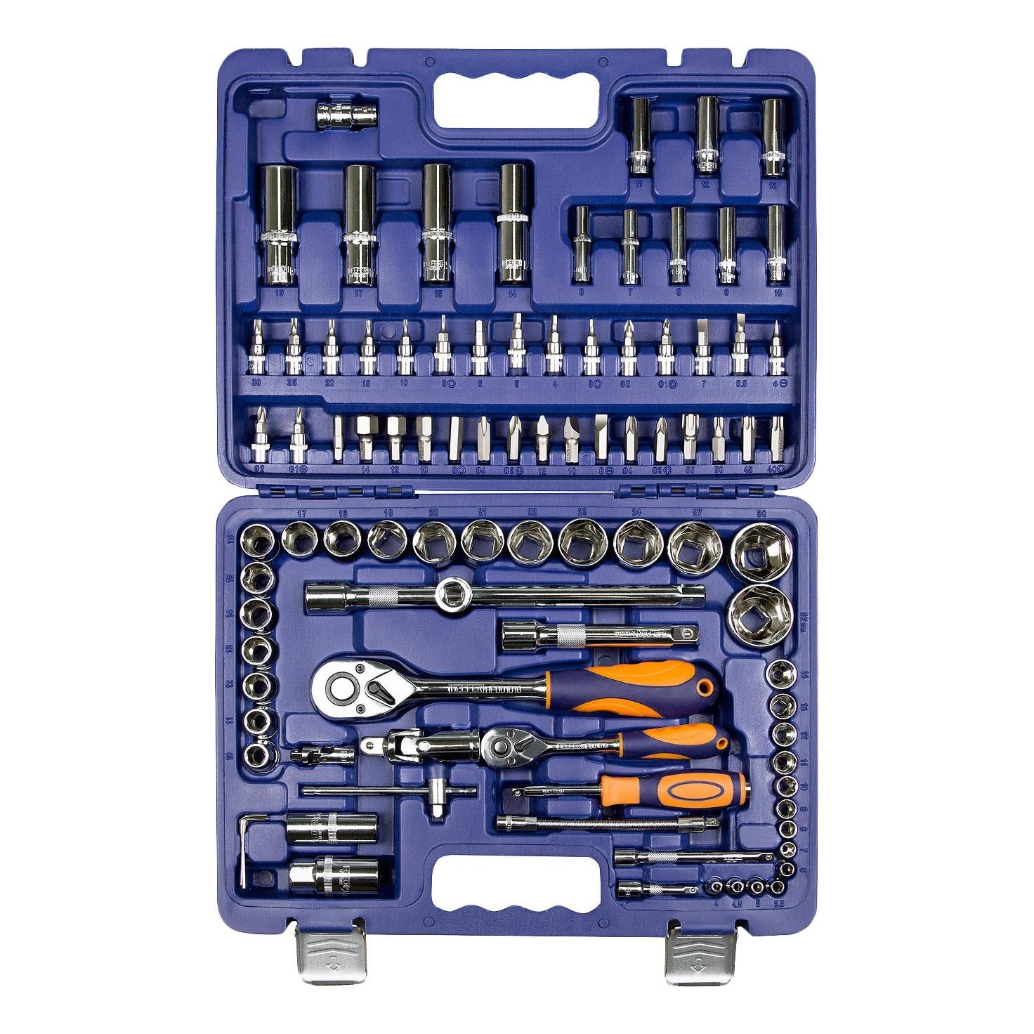 Набор инструментов HELFER HF000011 (94 предмета) helfer набор helfer comfort 56 предметов 1 2 1 4 [hf000013]