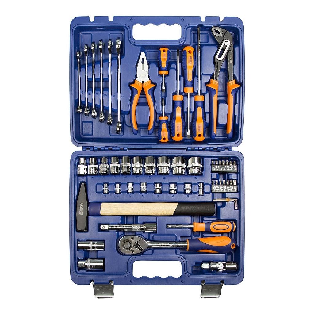 Набор инструментов HELFER HF000013 (56 предметов) торцевая головка bosch 10 мм 1 2 1 шт 1 608 552 012