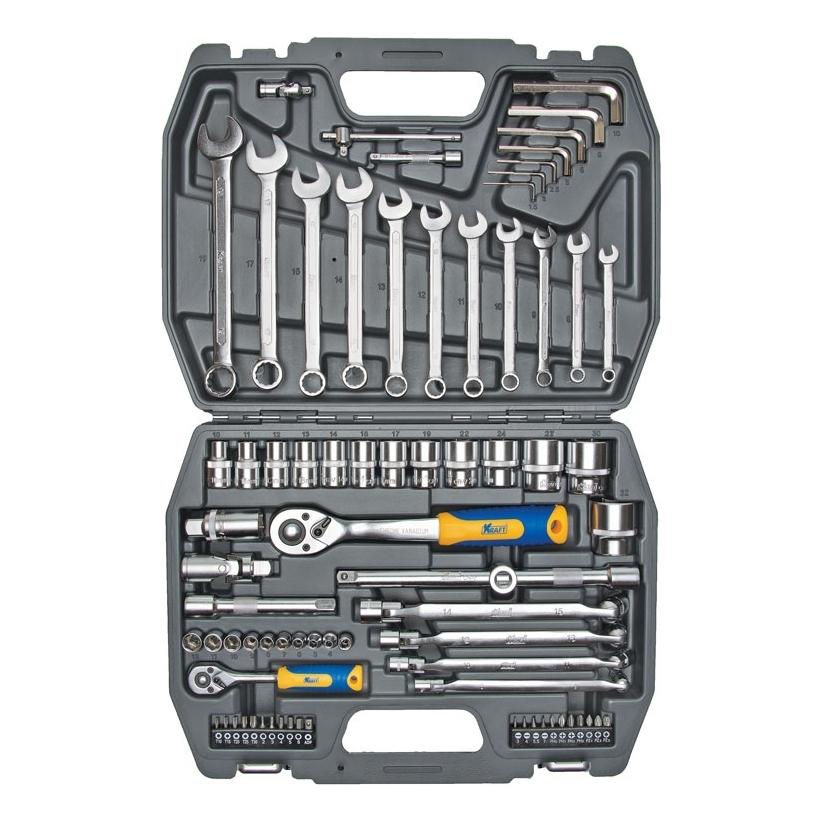 Набор инструментов KRAFT КТ 700304 (77 предметов) запчасть xlc 27 5 x 2 10 2 35 52 58 584 av 34 мм