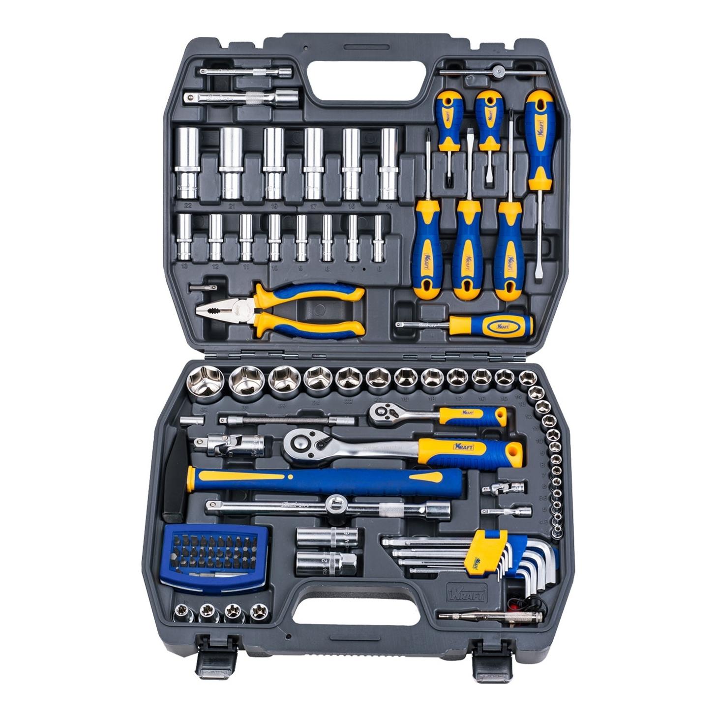 Набор инструментов KRAFT КТ 700678 (109 предметов) набор инструментов kraft 109 предметов кт 700678