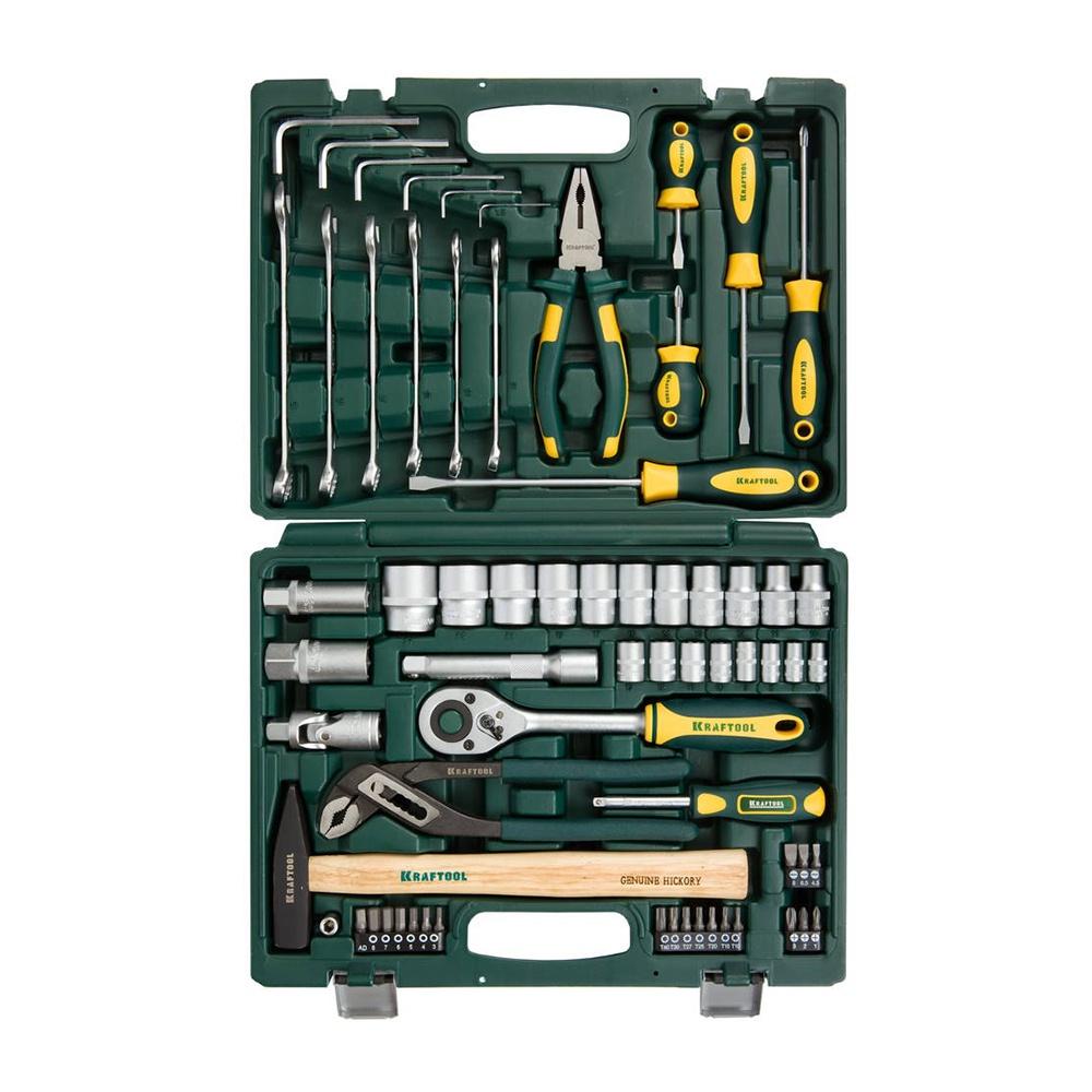 Набор инструментов KRAFTOOL 27976-H66 набор инструментов kraftool для обслуживания велосипеда 16 в 1 26182 h16