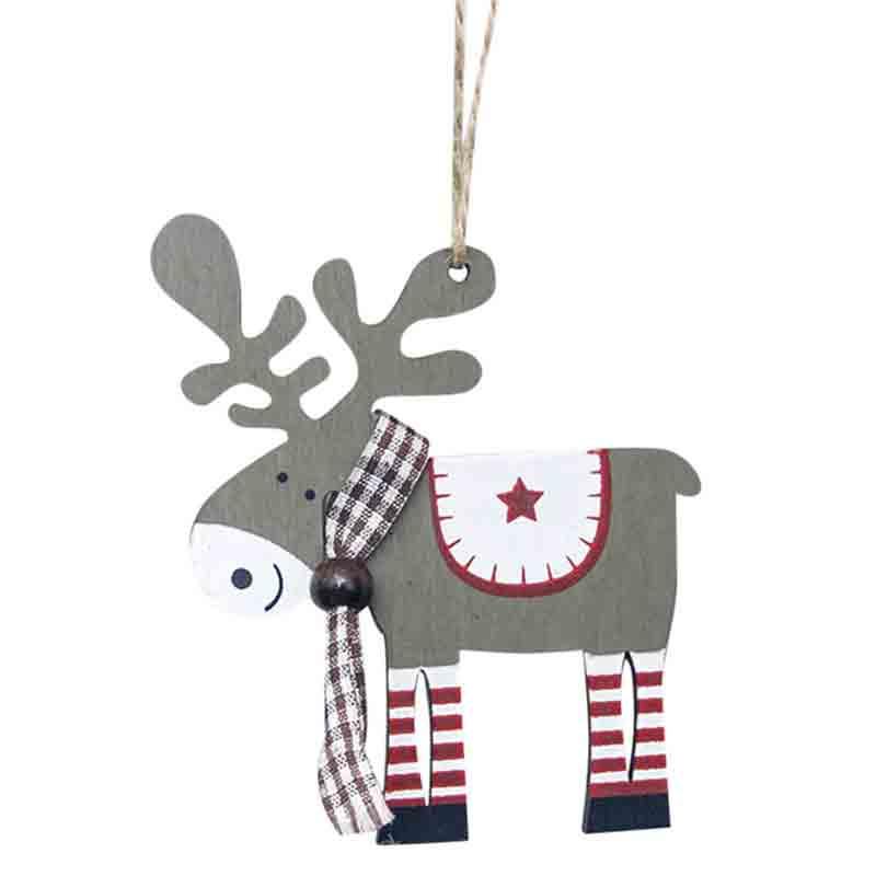 Фигурка декоративная Новогоднее деревянное украшение, темно-серый ботинки женские daze цвет темно серый 16507z 3 2l размер 36