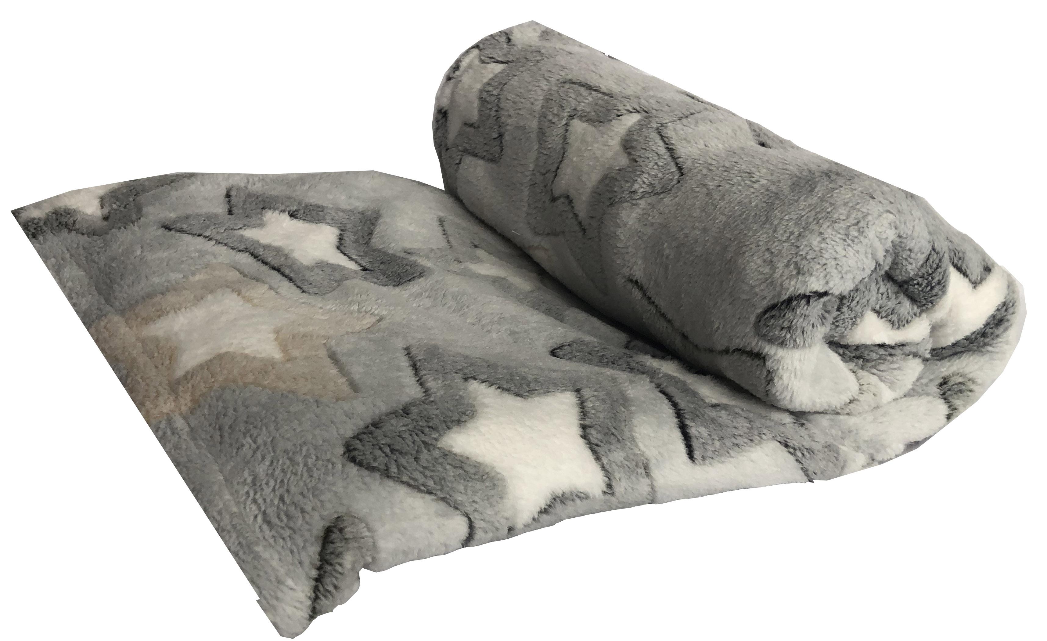 Плед для кошек и собак Монморанси Звезды, цвет: серый, 100 х 150 см7030Мягкое, нежное покрывало для комфорта вашего питомца и защиты мебели от шерсти.