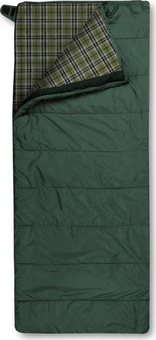 Спальный мешок Trimm Comfort Tramp, правосторонняя молния, зеленый, 195 см цена