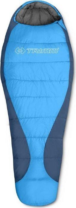 Спальный мешок Trimm Trekking Gant, правосторонняя молния, синий, 185 см