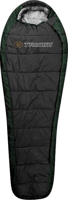 Спальный мешок Trimm Trekking Highlander, левосторонняя молния, зеленый, 195 см