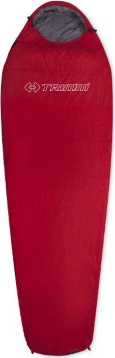 Спальный мешок Trimm Lite Summer, правосторонняя молния, красный, 195 см
