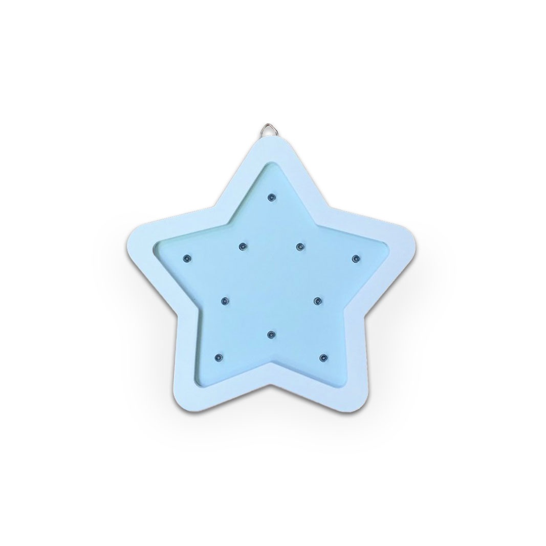 Ночник Amelia Kingdom Звезда мини, голубой, белый