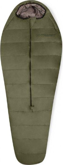 Спальный мешок Trimm Battle, правосторонняя молния, хаки, 195 см