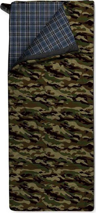 Спальный мешок Trimm Comfort Tramp, правосторонняя молния, камуфляж, 185 см цена