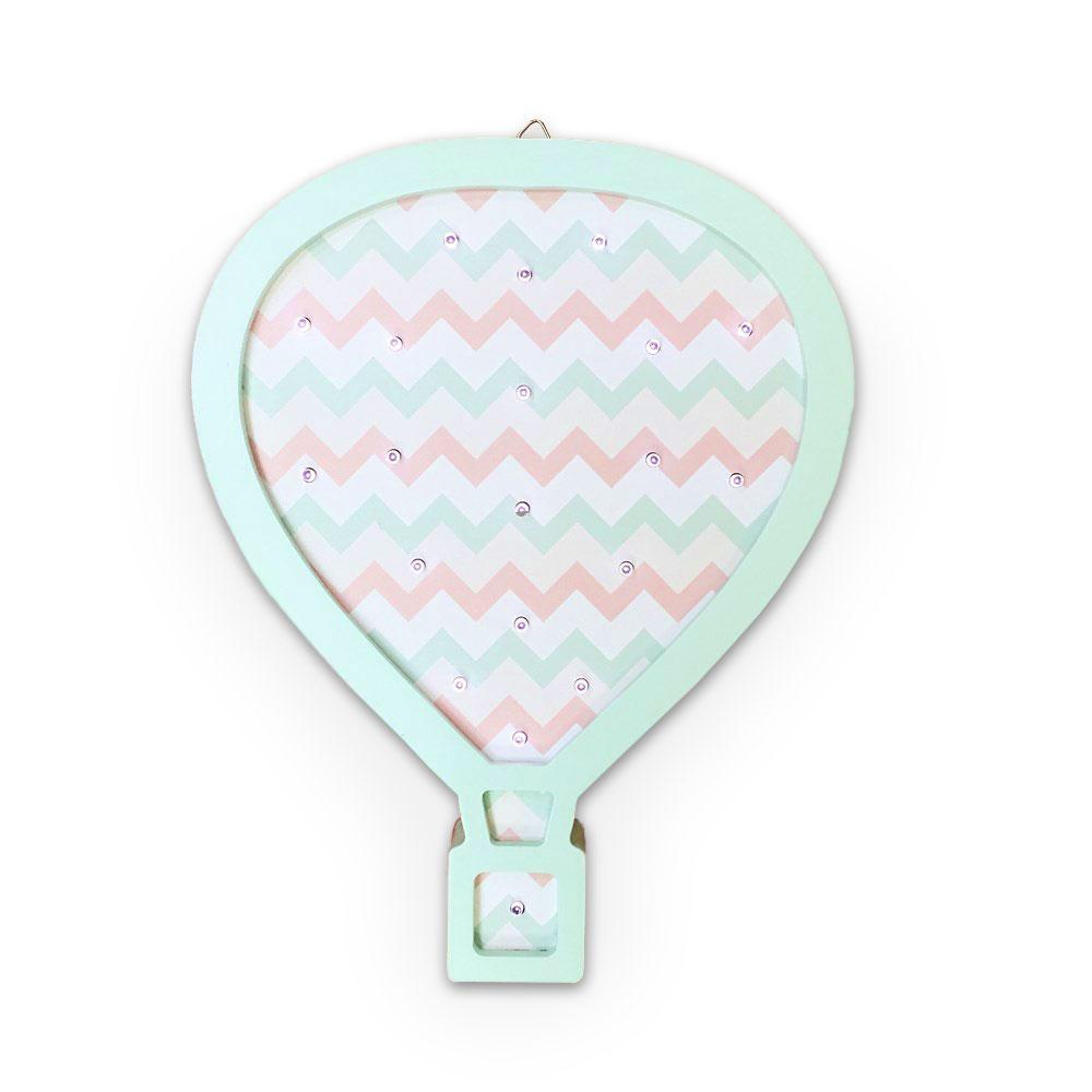 Ночник Amelia Kingdom Воздушный шар, светло-розовый, светло-зеленый