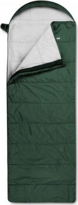Спальный мешок Trimm Comfort Viper, правосторонняя молния, зеленый, 185 см