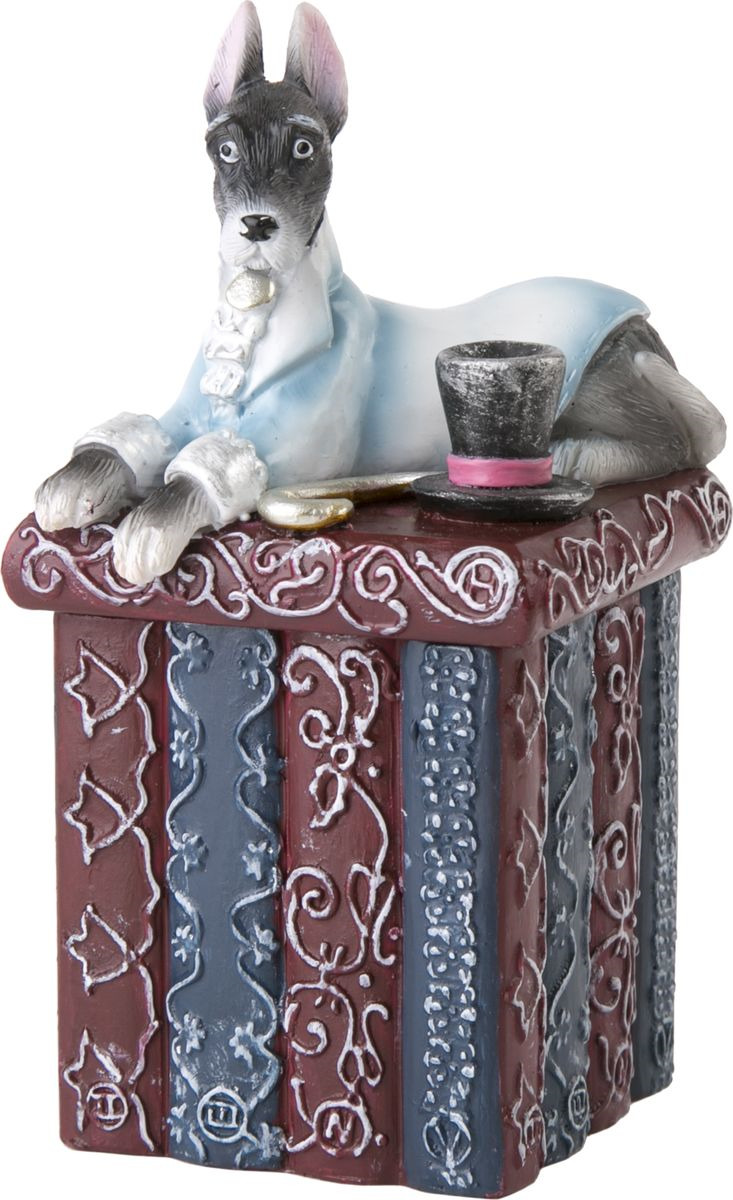 Шкатулка для хранения Magic Home Собака на коробке, 75541, коричневый шкатулка путешествие magic home