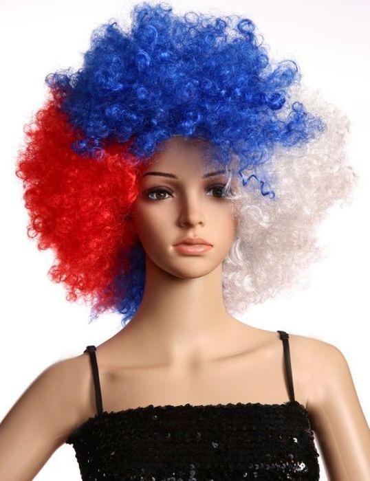 Маскарадный парик Magic Home Патриотка, 75464, мультиколор недорго, оригинальная цена