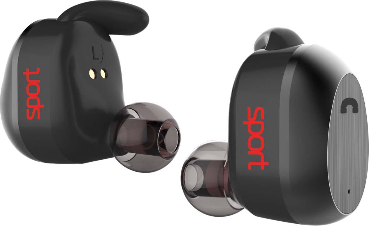 Наушники Elari NanoPods Sport, чёрный беспроводные наушники elari nanopods черный