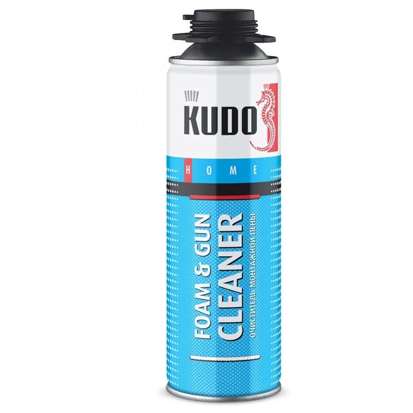 Очиститель монтажной пены KUDO FOAM and GUN CLEAR, под пистолет, 650 мл очиститель для незатвердевшей пены makroflex premium cleaner 500 мл 1338403