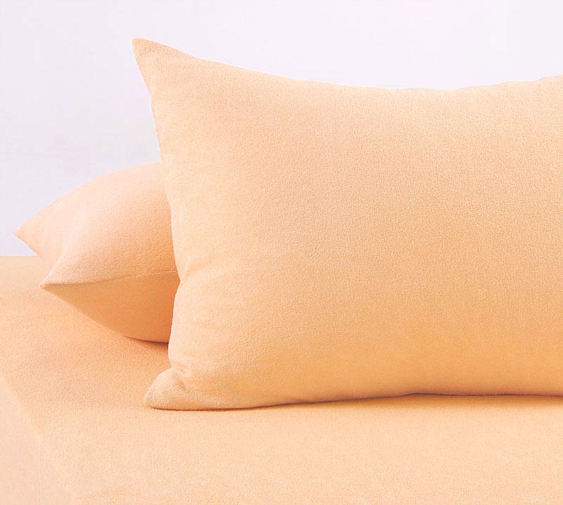 Наволочка Текс Дизайн махровая; В наборе 2 штуки 70 х 70; Цвет: крем, кремовый