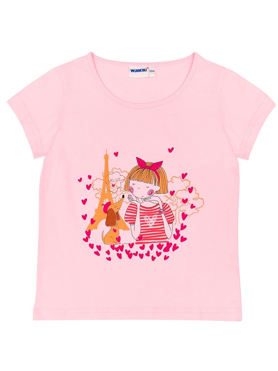 Футболка WINKIKI, розовый 98 размерWKG91362_розовый_98Футболка цвета фуксии для девочки из натурального 100% хлопка. Украшена милым принтом, который сохраняет яркость и стойкость после многочисленных стирок. Идеальна на каждый день.