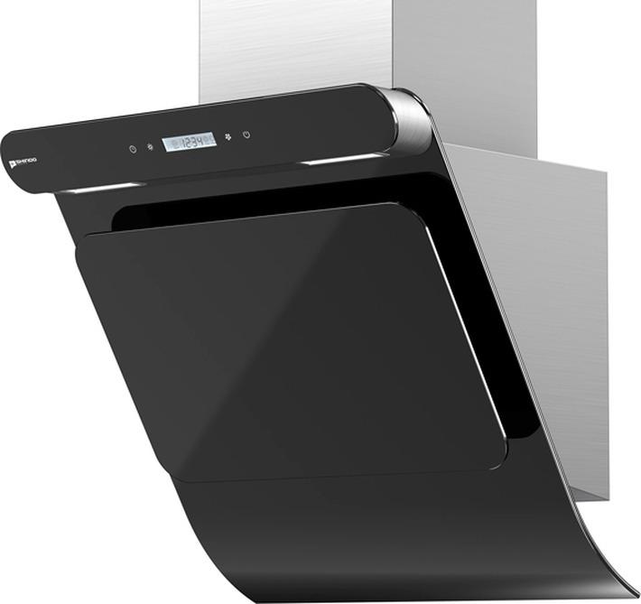 Вытяжка каминная Shindo Arktur 60 B/BG 3ETC, нержавеющая сталь/черное стекло цена
