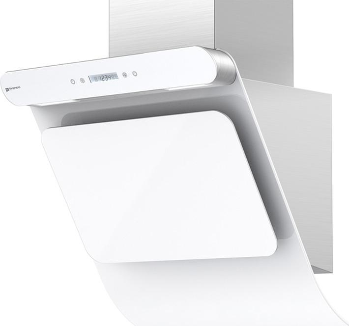 Вытяжка каминная Shindo Arktur 60 W/WG 3ETC, нержавеющая сталь/белое стекло кухонная вытяжка shindo arktur 60 b bg 3etc