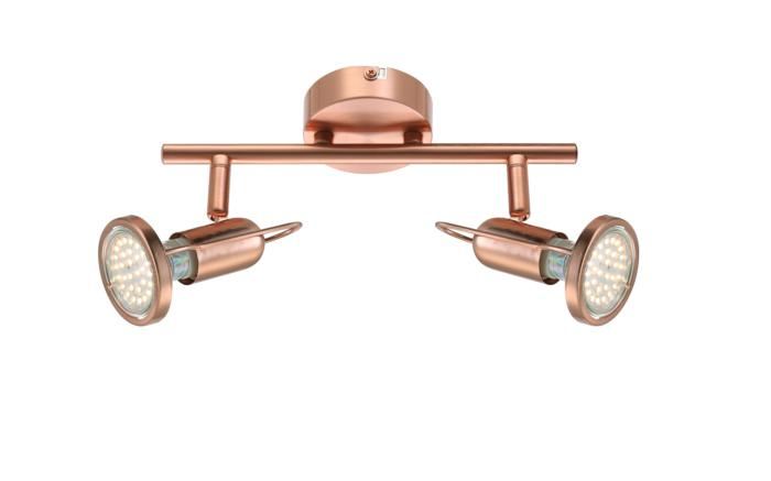 Настенно-потолочный светильник Globo New 54383-2, медь54383-2Спот с двумя плафонами Globo 54383-2 серии Anne в стиле хай-тек оживит ваш интерьер. Размеры (ДхШхВ) 130х250х0 мм.