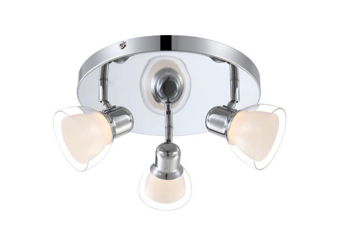 Настенно-потолочный светильник Globo New 56182-3, серый металлик цена в Москве и Питере