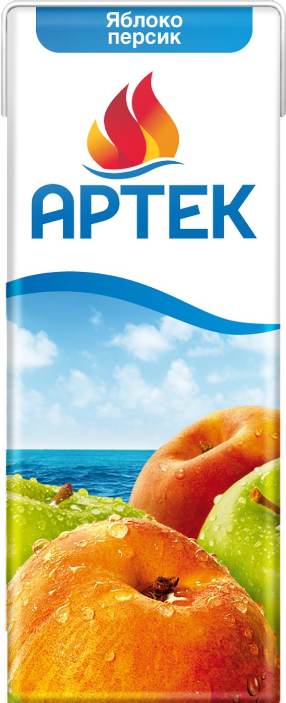 Фото - Нектар Артек персиково-яблочный с мякотью 200 мл нектар benature морковно яблочный 730 мл