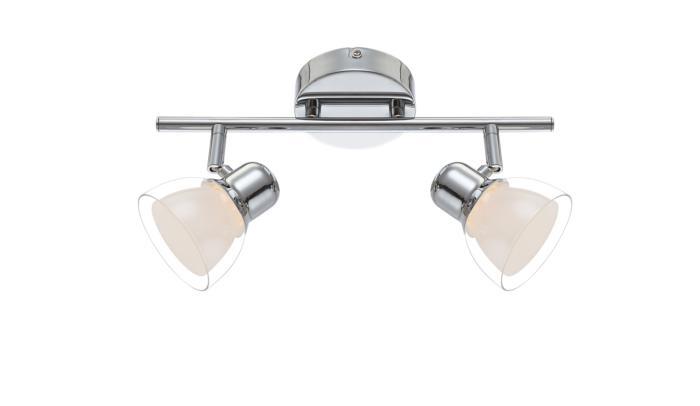 Настенно-потолочный светильник Globo New 56182-2, серый металлик цена в Москве и Питере