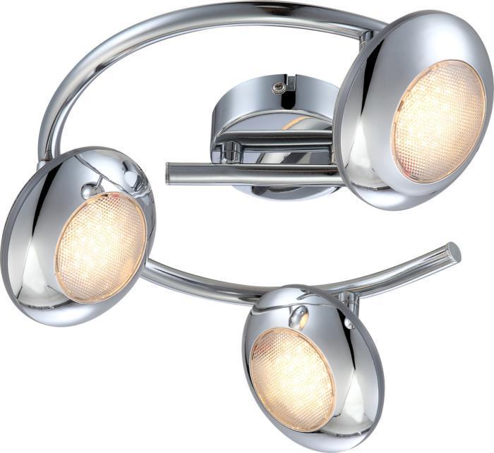 Настенно-потолочный светильник Globo New 56217-3, серый металлик спот globo 56217 3