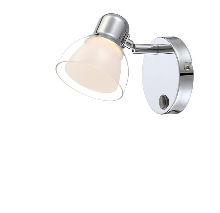Настенно-потолочный светильник Globo New 56182-1, серый металлик цена в Москве и Питере