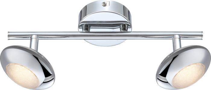 Настенно-потолочный светильник Globo New 56217-2, серый металлик спот globo 56217 3