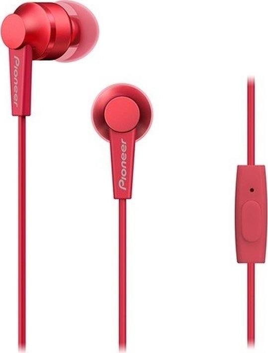 Наушники Pioneer SE-C3T-R, вкладыши, красный наушники pioneer se ms5t r красный
