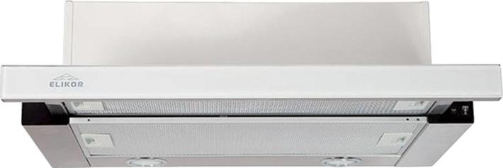 """Вытяжка встраиваемая Elikor """"Интегра"""" Glass 45Н-400-В2Д, нержавеющая сталь/стекло черное"""