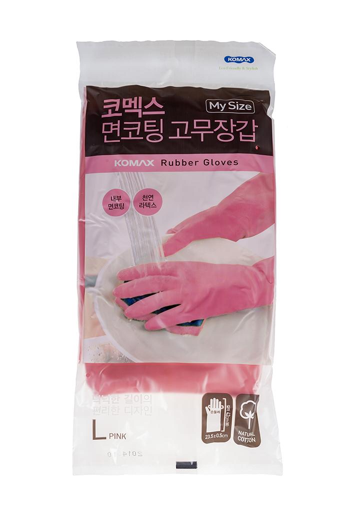 Перчатки хозяйственные KOMAX Clean, розовый