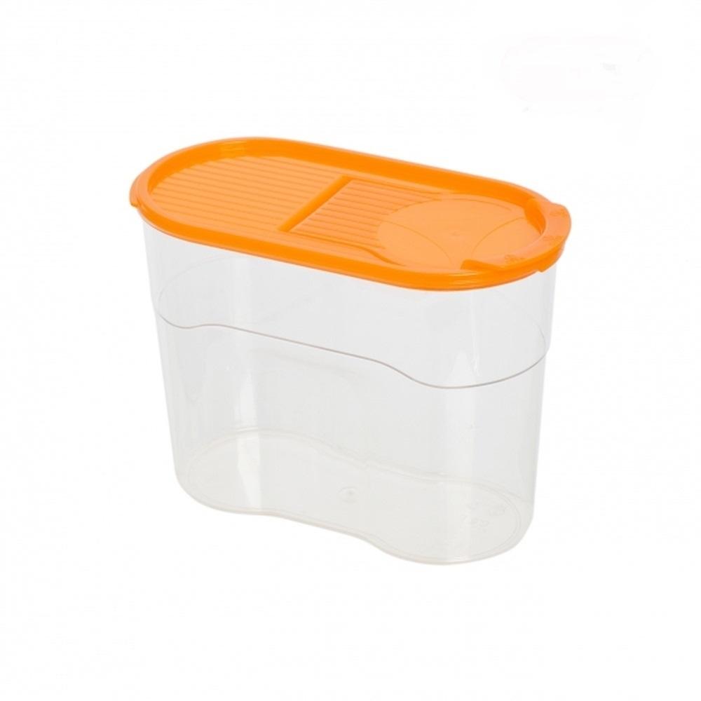Банка для сыпучих продуктов Полимербыт ЛЮКС 1,1л, оранжевый хранение продуктов